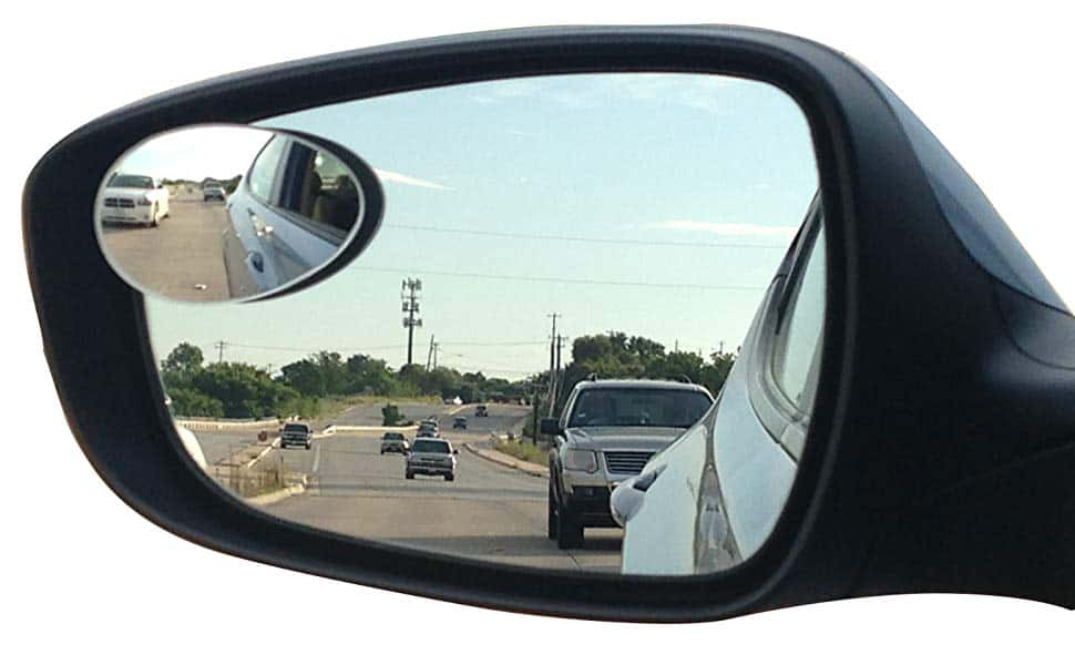 Blind Spot Mirror on a Wing Mirror