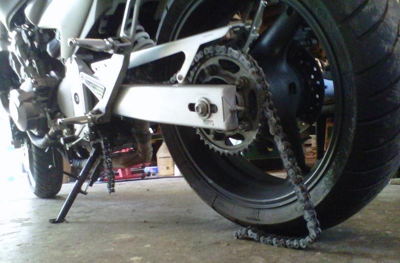 Broken Bike Chain On A Honda