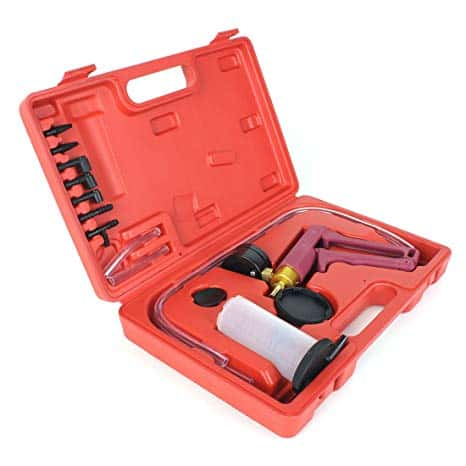 Copap 16PCS Brake Bleeder and Vacuum Pump Test Tuner Tool Kit