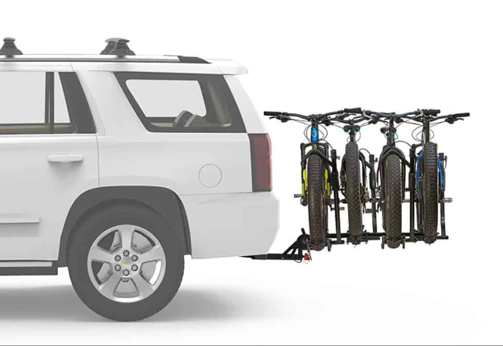 Hitch Rack with Four Bikes Mounted