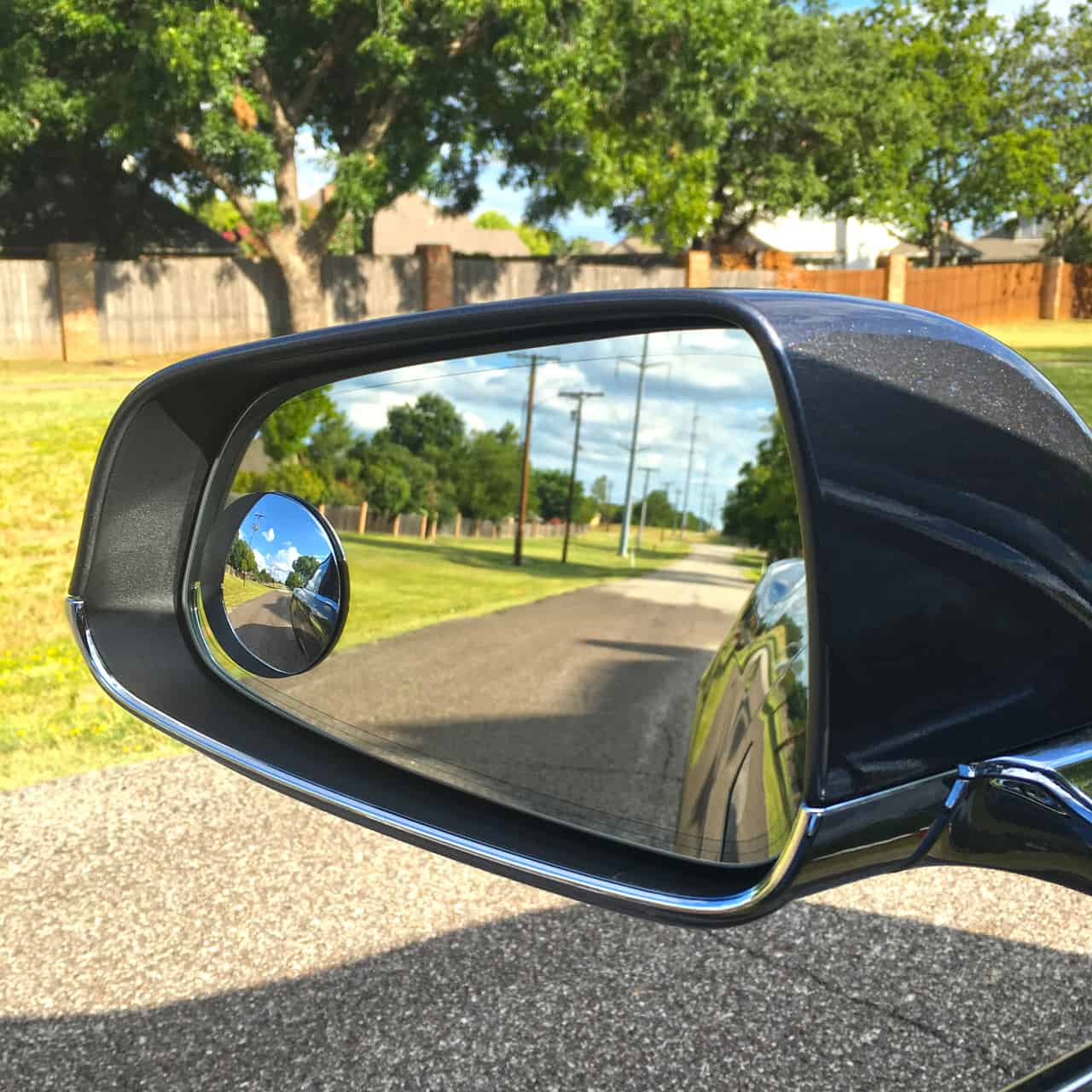 Small circular convex mirror