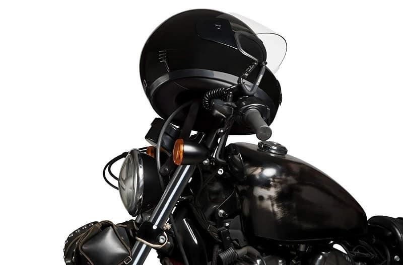Motorcycle Helmet Lock On A Motorcycle