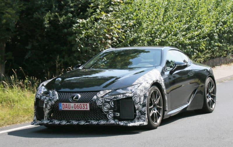Lexus LC F test mule