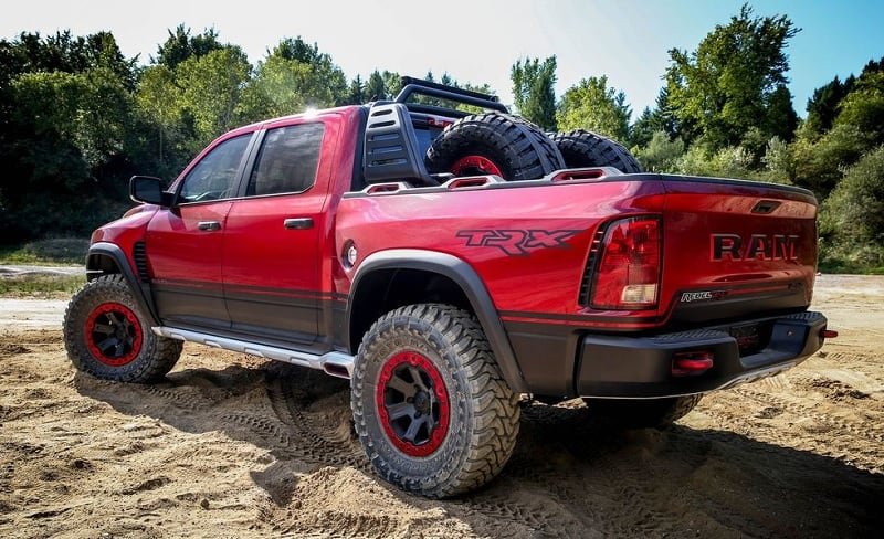 2021 RAM Rebel TRX Concept Rear
