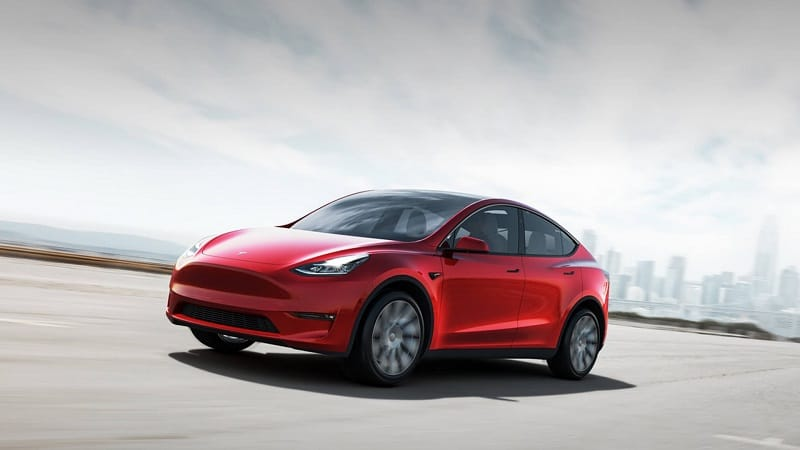 2021 Tesla Model Y Front and Side