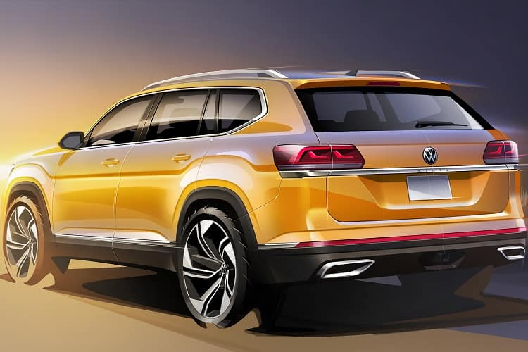 2021 Volkswagen Atlas Rear
