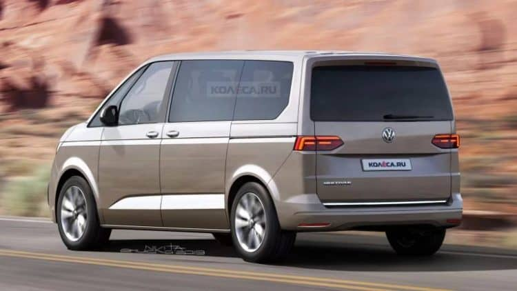 2021 Volkswagen T7 Van Rendering 2