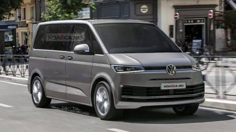2021 Volkswagen T7 Van Rendering