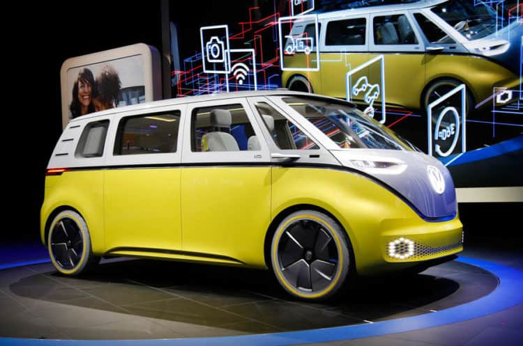 VW ID Buzz Concept Microbus Side View