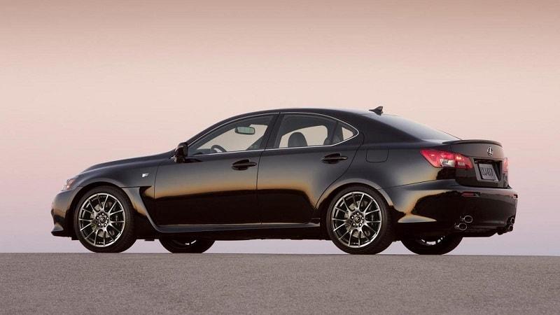 2013 Lexus IS F Side Rear View