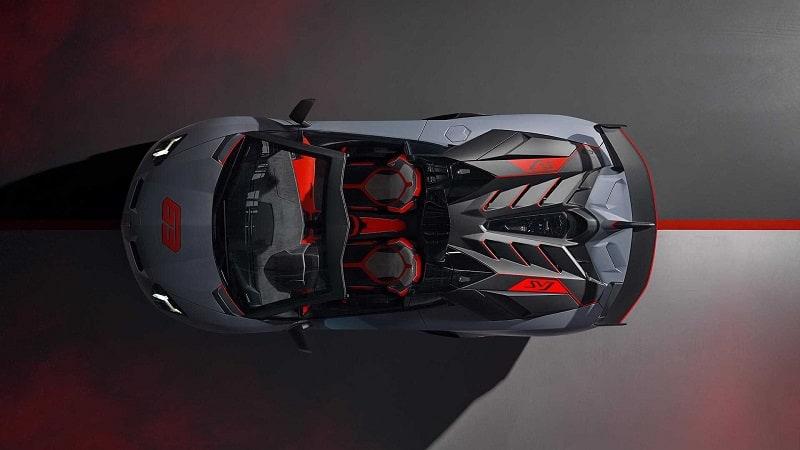 2021 Lamborghini Aventador SVR Above