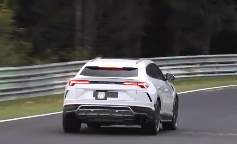 2021 Lamborghini Urus ST-X Spy Shot Rear