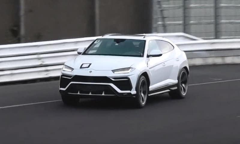 2021 Lamborghini Urus ST-X Spy Shot White Front View