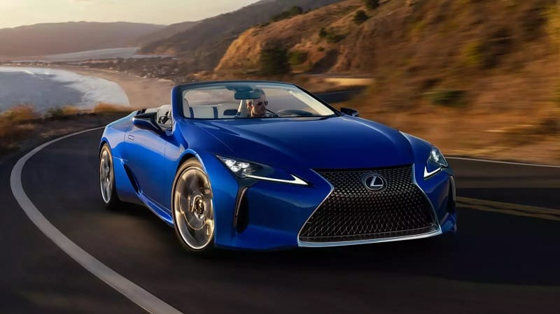 2021 Lexus LC500 Convertible Driving