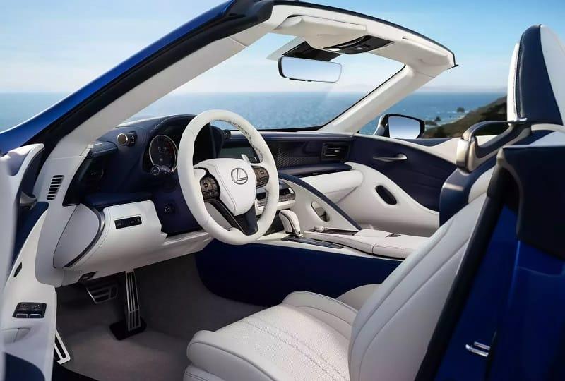 2021 Lexus LC500 Convertible Interior