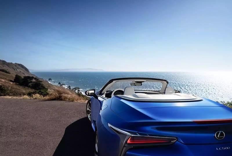 2021 Lexus LC500 Convertible Rear