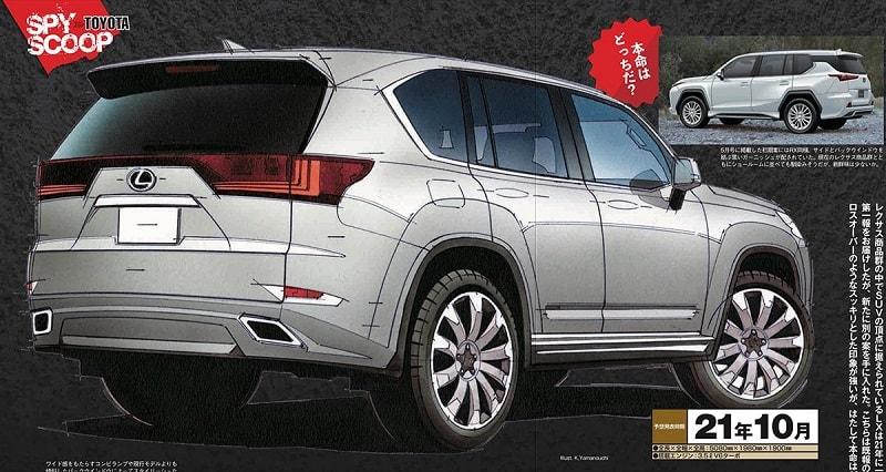2021 Lexus LX Mag-X Rendering