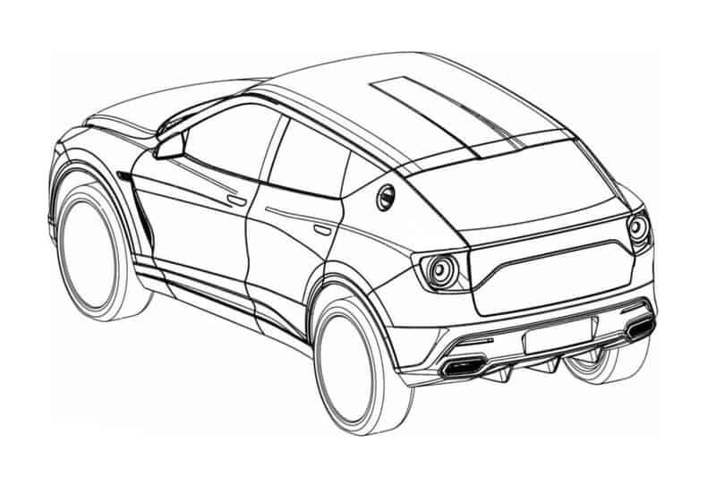2021 Lotus SUV Patent Sketch Rear