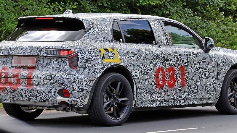 2021 Lotus SUV Test Car Rear
