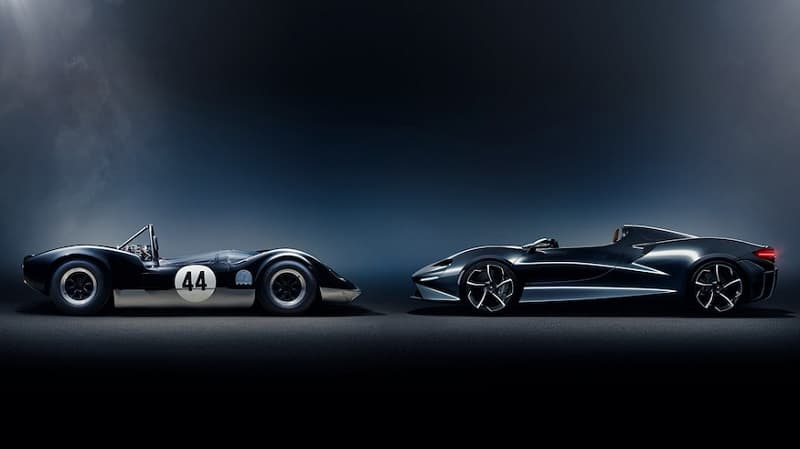 2021 McLaren Elva and Original Elva Side On