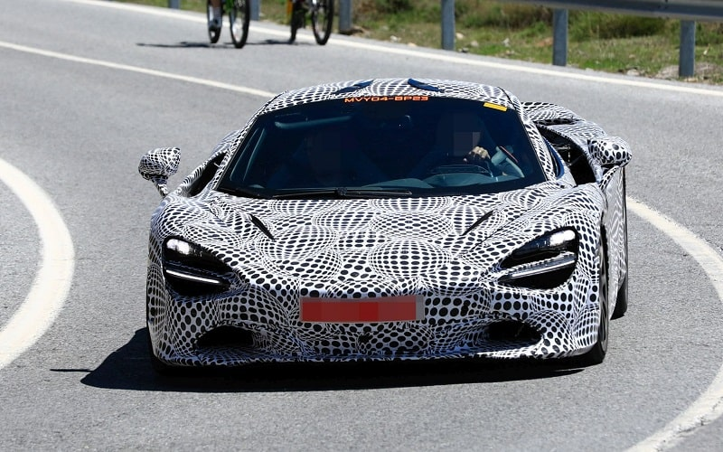 2021 McLaren Hybrid Spy Shot Driving