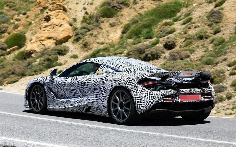 2021 McLaren Hybrid Spy Shot Rear