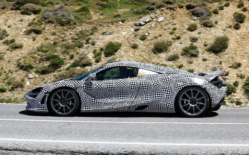 2021 McLaren Hybrid Spy Shot Side
