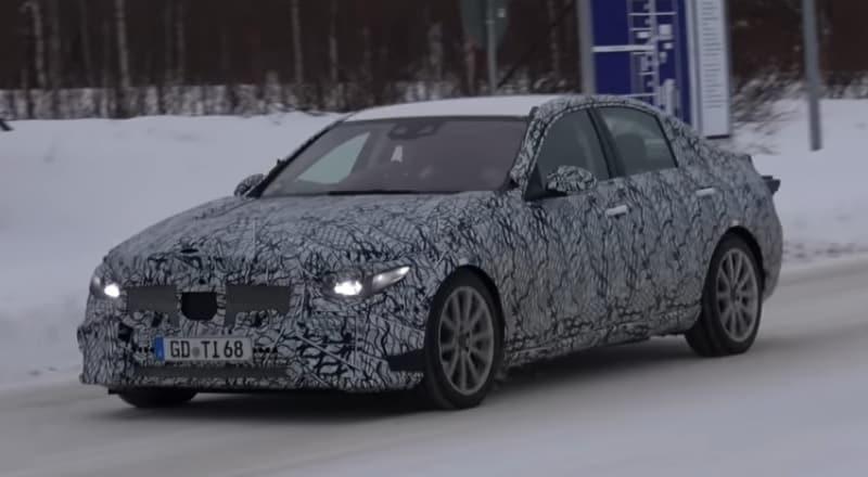 2021 Mercedes-Benz C-Class Spy Shot Driving
