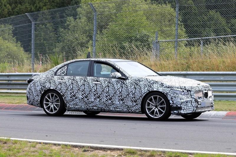 2021 Mercedes-Benz C-Class Spy Shot Side