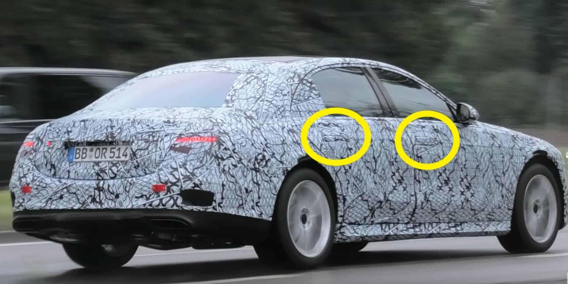 2021 Mercedes-Benz S-Class Spy Shot Driving