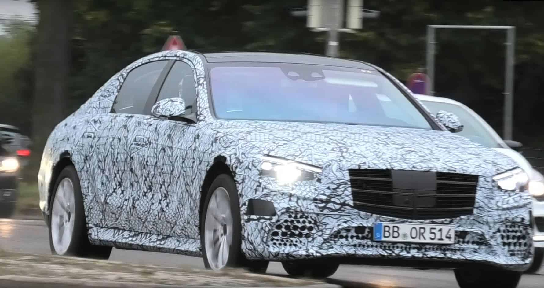 2021 Mercedes-Benz S-Class Spy Shot Front