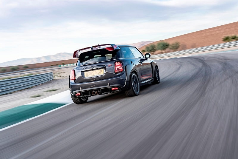 2021 Mini John Cooper Works GP On Track Rear View
