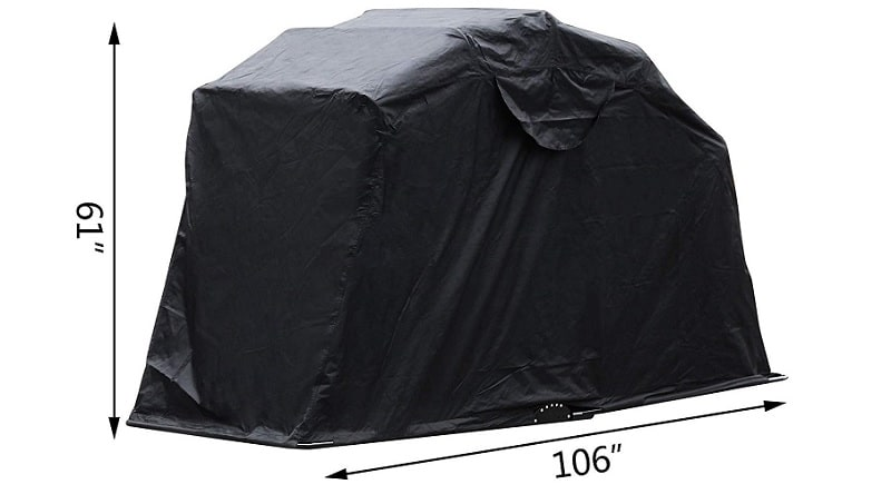 Mophorn Motorcycle Shelter Shed
