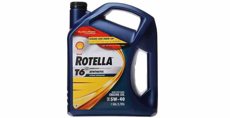 Shell Rotella T6 5W-40 Full Synthetic Heavy Duty Engine Oil