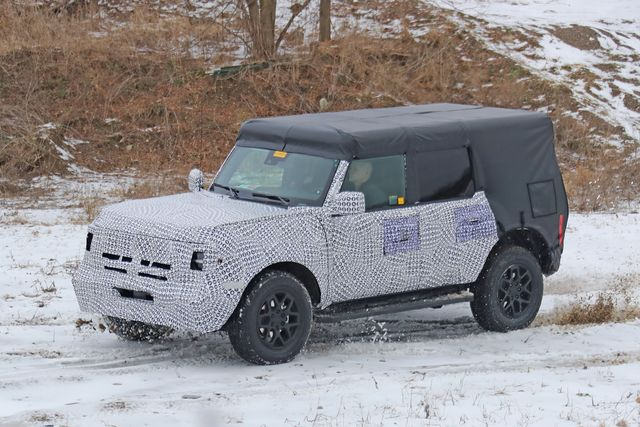 2021 Ford Bronco test mule
