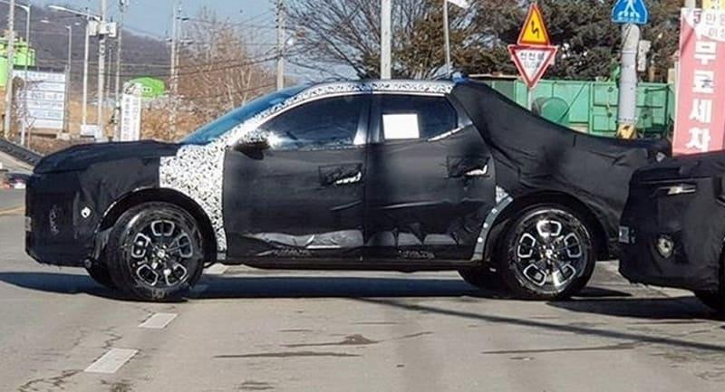 2021 Hyundai Santa Cruz test mule