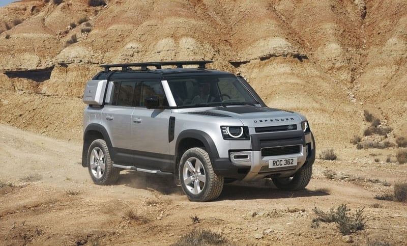Land Rover Defender front 3/4 view