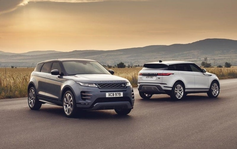 Range Rover Evoque front and rear