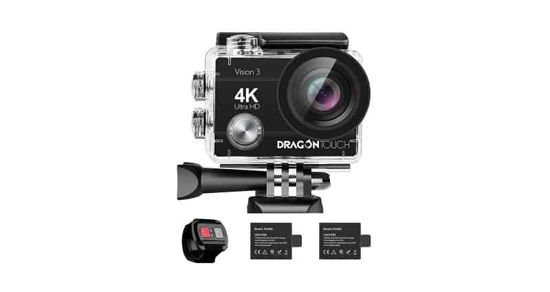 Dragon Touch Vision 3 4K Action Camera