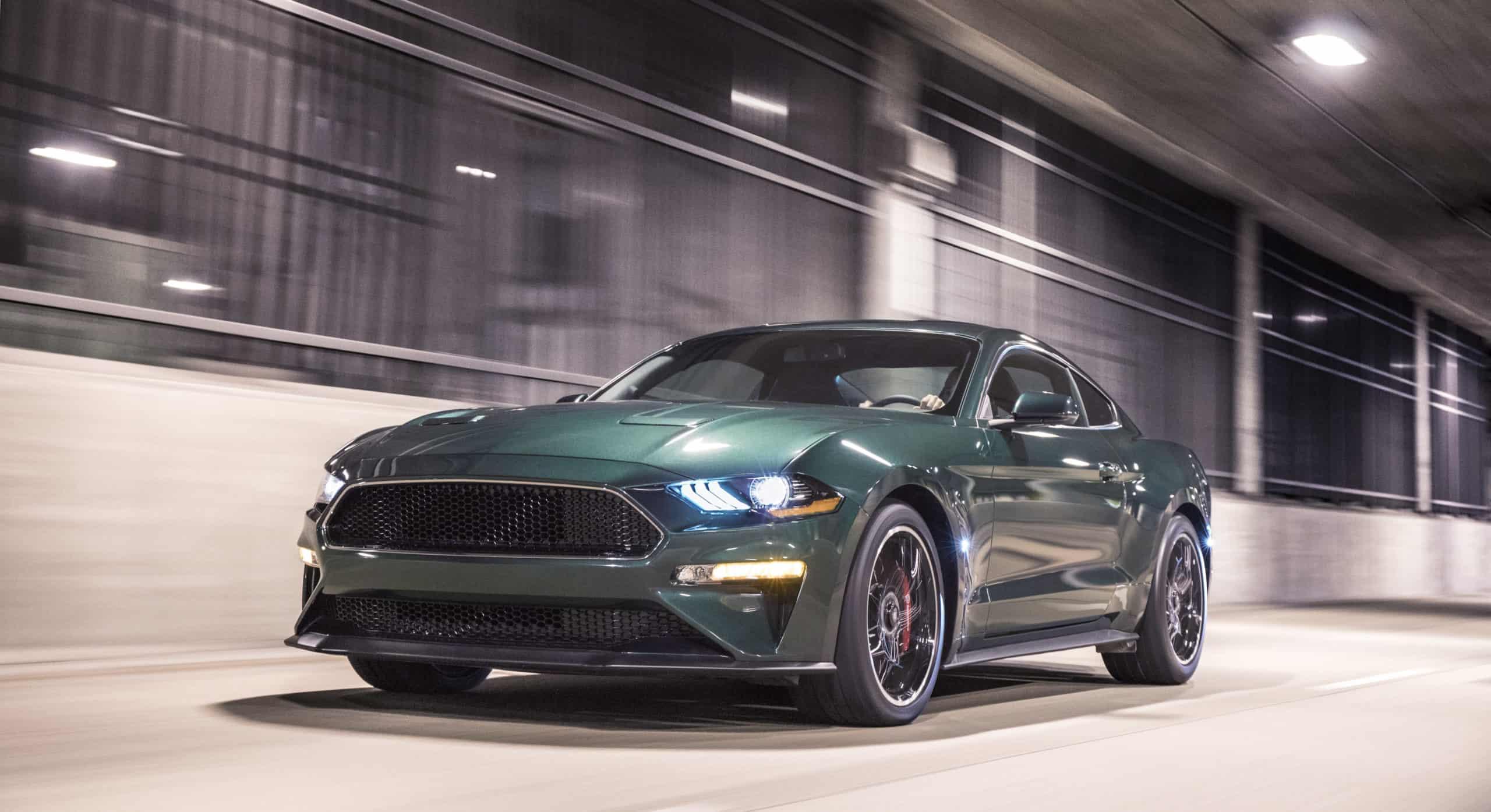 2020 Mustang Bullitt in motion in tunnel