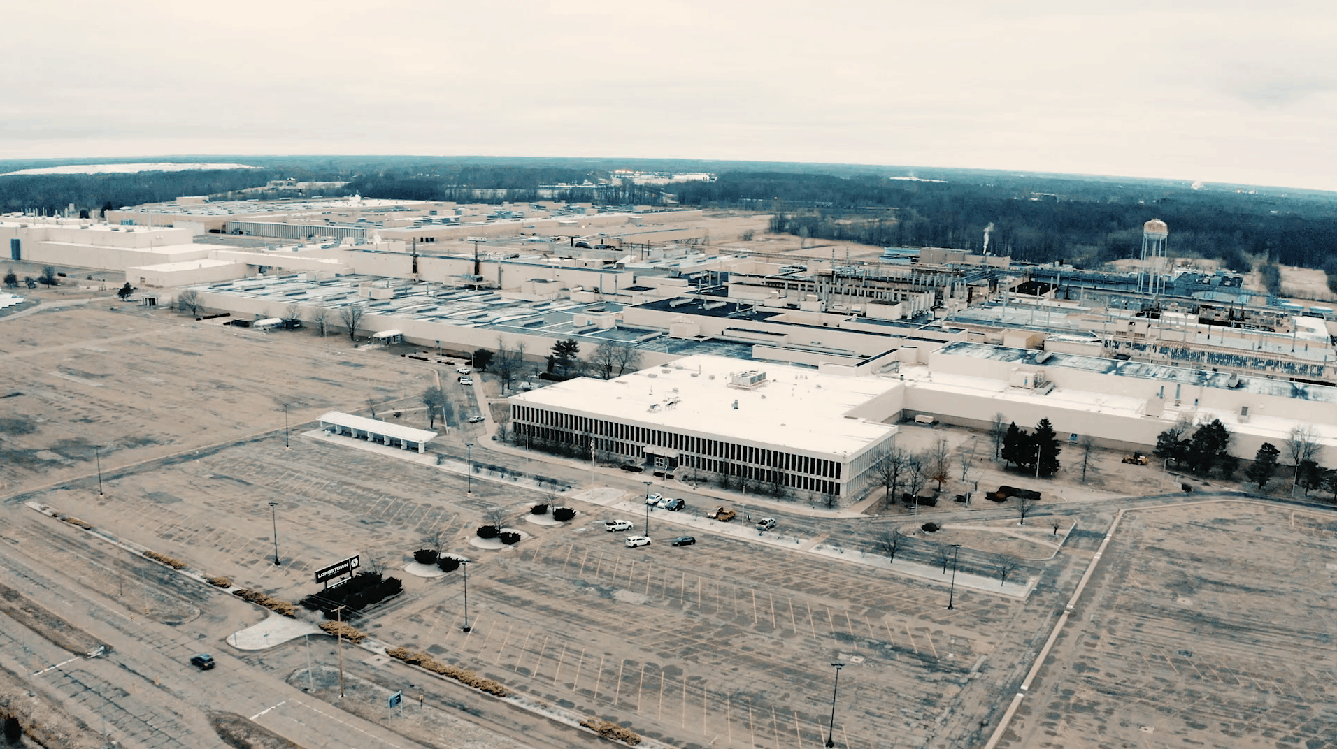 Lordstown Motors factory aerial image