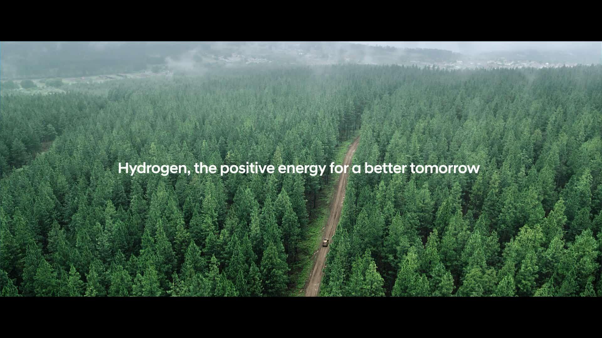 hyundai hydrogen commitment on forest scene
