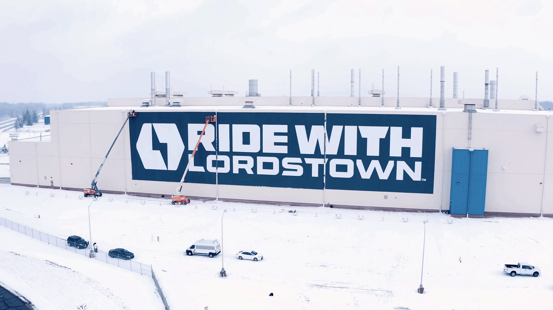 Lordstown Motors Factory signage hanging