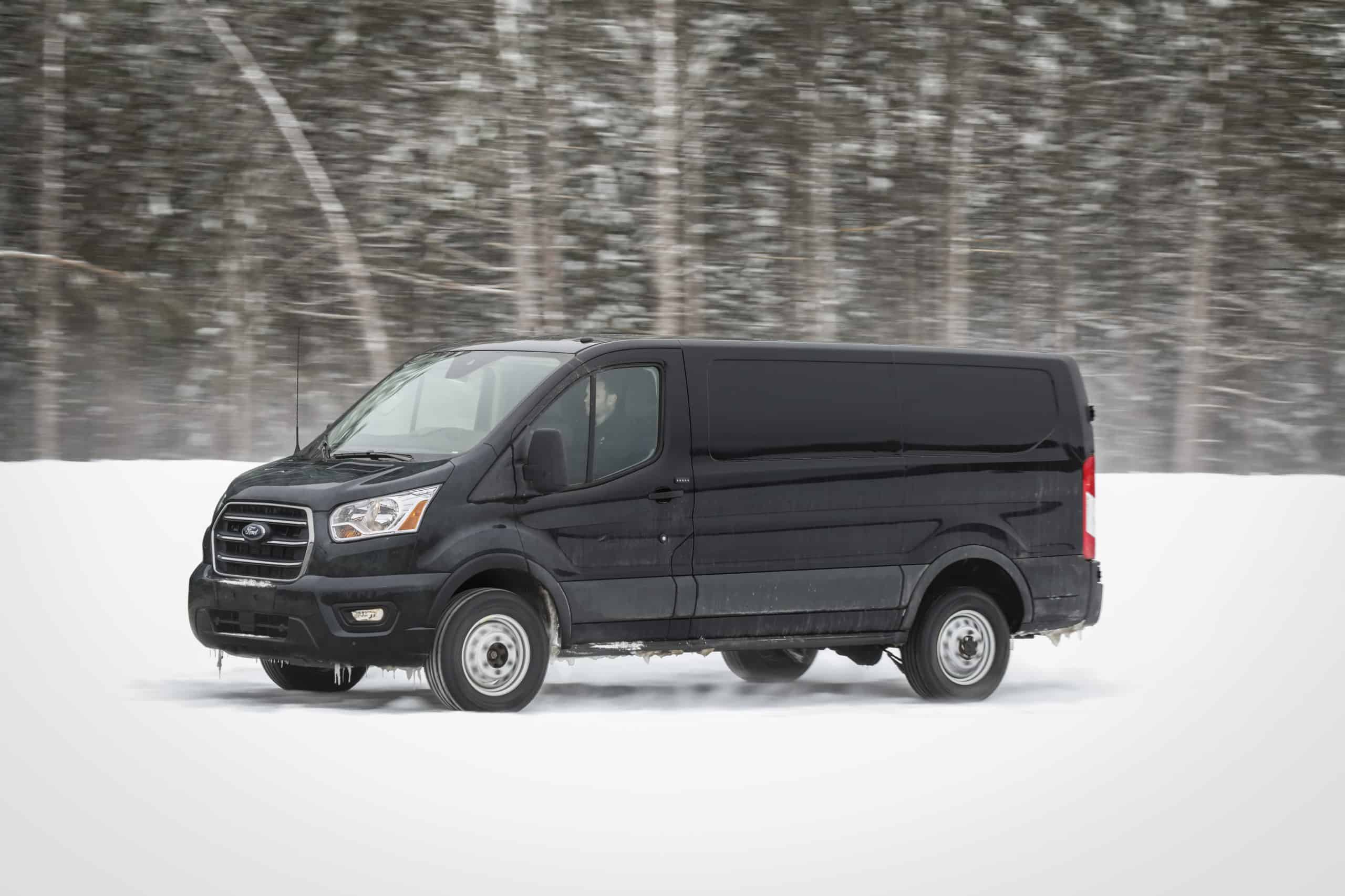 AWD Ford Transit in snow
