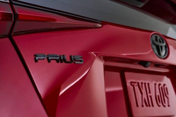 Prius badge on 2020 edition car