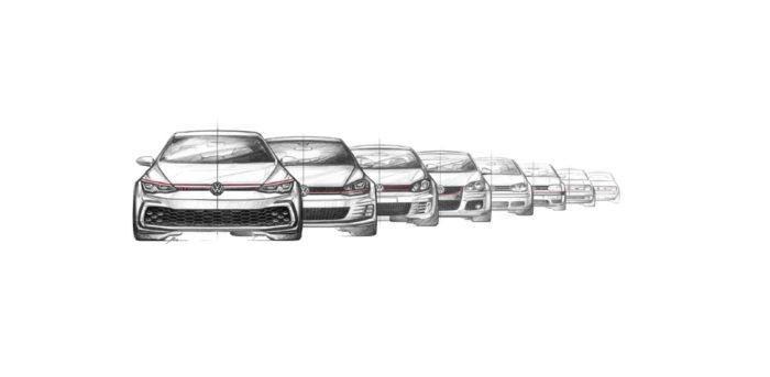 VW Golf GTI Generations sketch