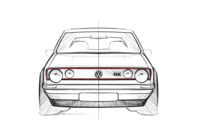 Golf GTI Mk1 front sketch