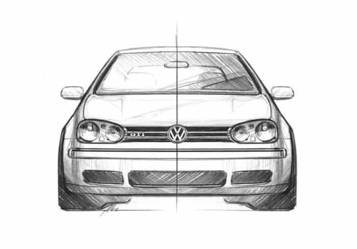 Golf GTI Mk4 front sketch