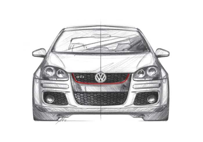 Golf GTI Mk5 front sketch