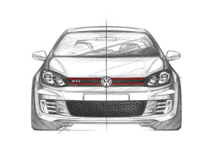 Golf GTI Mk6 front sketch